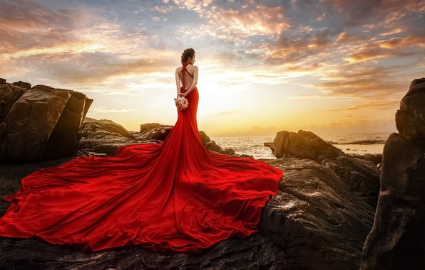 Картинка девушка, стиль, платье