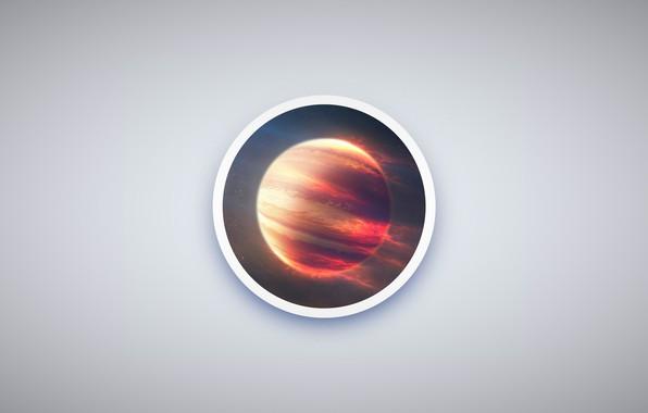 Картинка space, minimalism, planet, circle, Jupiter, simple design