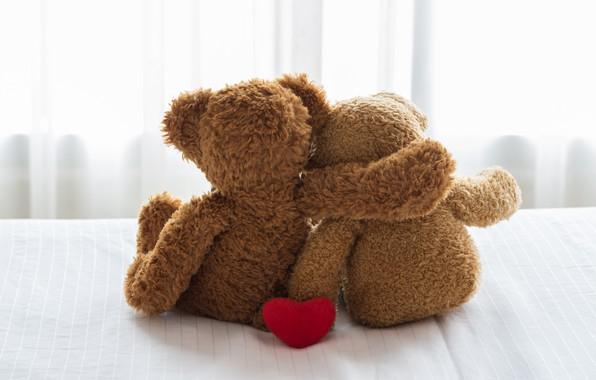 Картинка любовь, игрушка, сердце, медведь, пара, love, bear, heart, romantic, teddy, cute