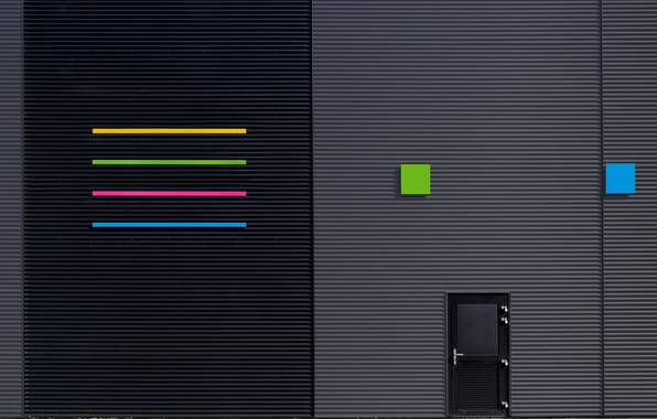 Картинка полоски, дизайн, город, здание, текстура, двери
