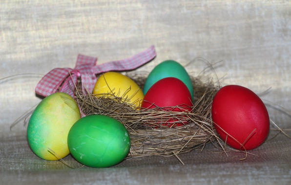 Картинка праздник, еда, яйца, пасха, гнездо