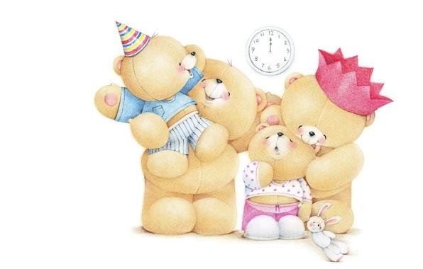 Картинка дети, настроение, праздник, семья, арт, мама, мишки, папа, детская, Forever Friends Deckchair bear, Teddy Bears