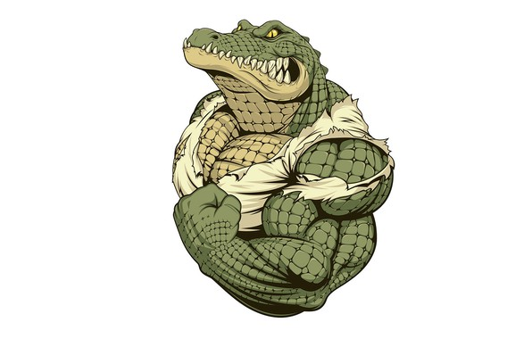 Картинка кожа, крокодил, мускулы, бицепс, клики