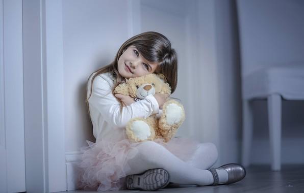 Картинка настроение, игрушка, девочка, медвежонок, плюшевый мишка, Alessandro Di Cicco