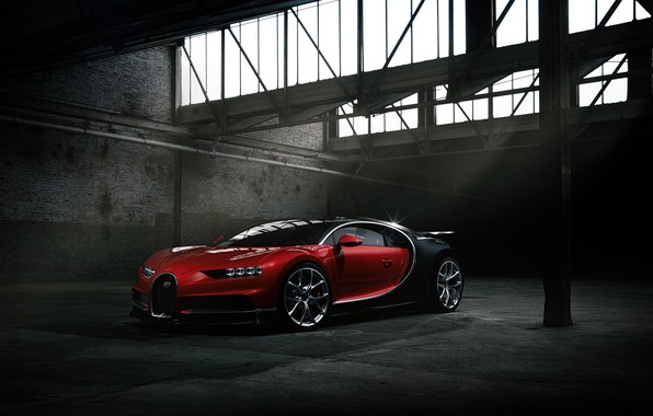 Картинка Bugatti, Dark, Black, RED, VAG, Chiron