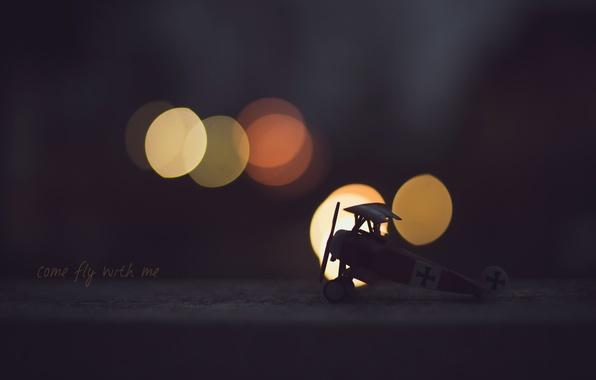 Картинка фон, игрушка, самолёт