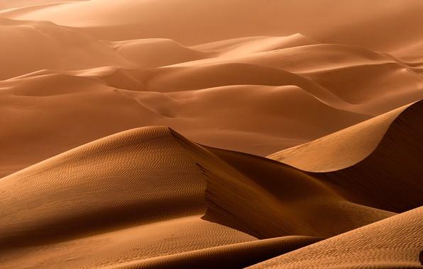 Картинка песок, природа, барханы, пустыня, дюны