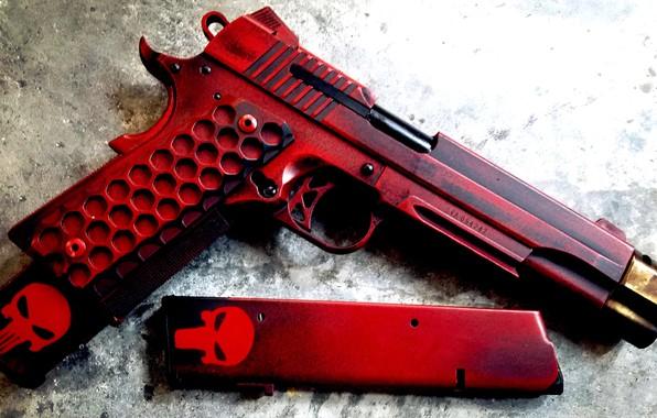 Картинка пистолет, оружие, gun, pistol, weapon, кастом, custom, M1911, 1911, М1911