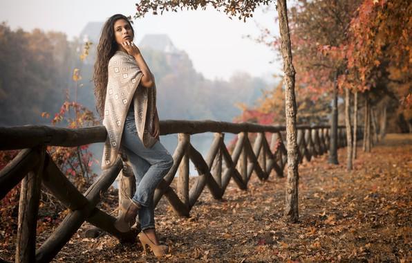 Картинка осень, модель, прогулка, Joanna