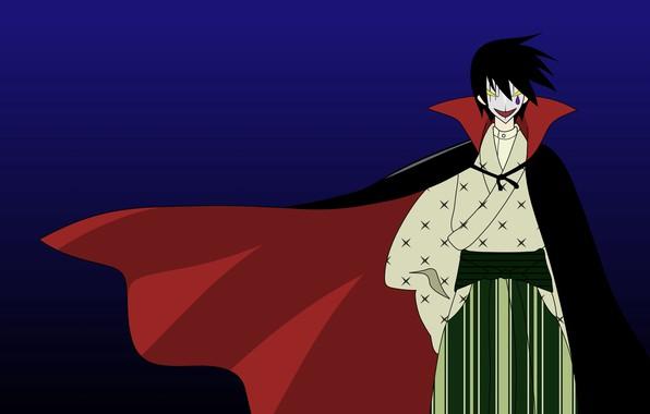 Картинка пародия, art, дракула, черный плащ, Sayonara Zetsubou Sensei, унылый учитель, Прощай, Hideyuki Morioka, Itoshiki Nozomu