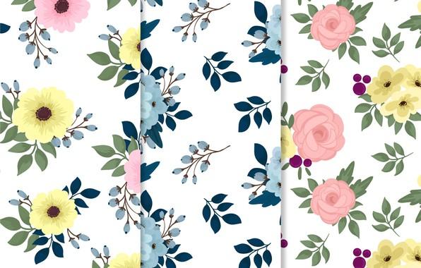 Картинка цветы, текстура, листики