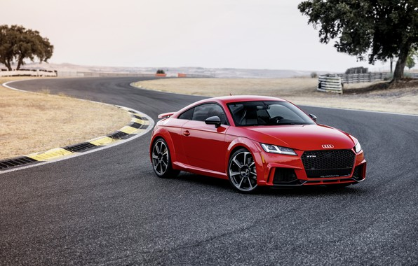 Картинка Audi, German, Red, 2018, Track, RS, TT