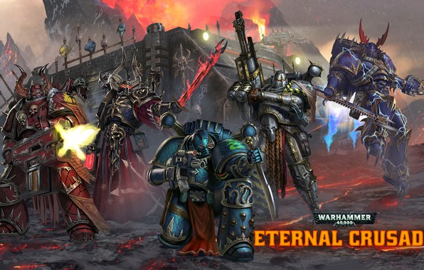 Фото обои Chaos, raptor, space marines, Word Bearers, 40 000, Warhammer 40 000, warlock, Iron Warriors, Eternal ...