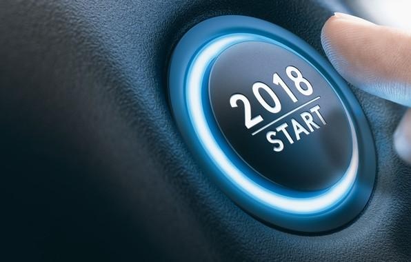 Картинка новый год, палец, кнопка, старт, 2018
