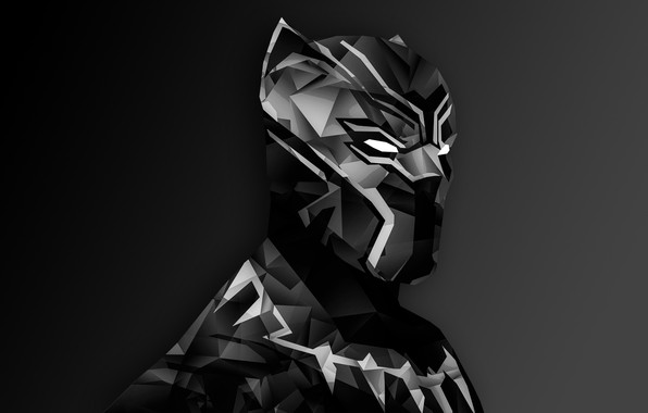 Картинка Marvel, digital art, suit, Black Panther, helm, T`Challa