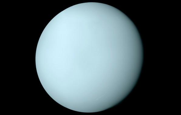 Картинка вселенная, планета, Уран, Солнечная Система