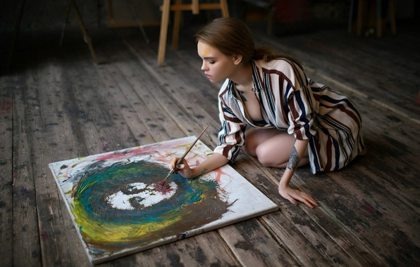 Картинка краски, творчество, кисть, Анастасия Щеглова