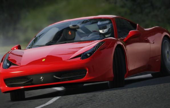 Картинка Ferrari, Red, Corsa, Assetto