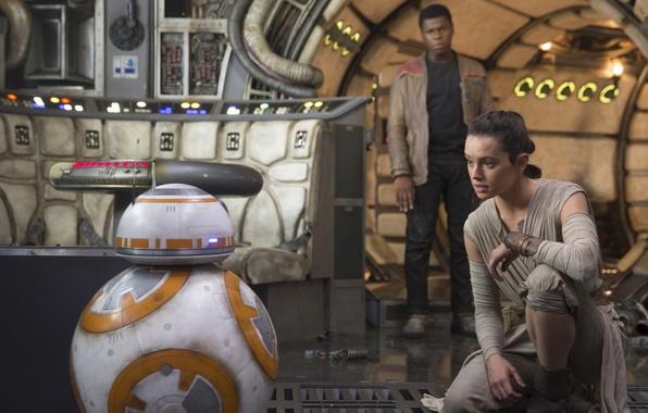 Картинка cinema, Star Wars, movie, film, Finn, BB-8, John Boyega, Star Wars: Episode VII: The Force …