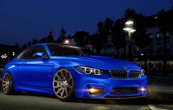 Картинка Синий, BMW, Тюнинг, БМВ, Автомобиль, Blue, Tuning, Vossen