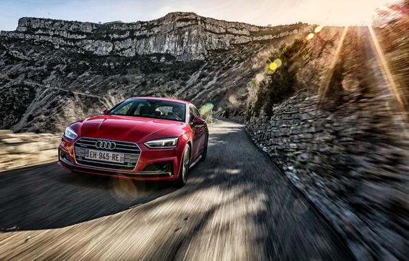 Картинка дорога, солнце, Audi, ауди, Sportback