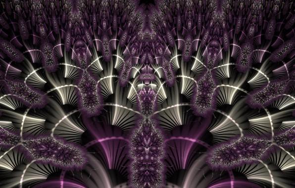 Картинка фиолетовый, узор, цвет, фрактал