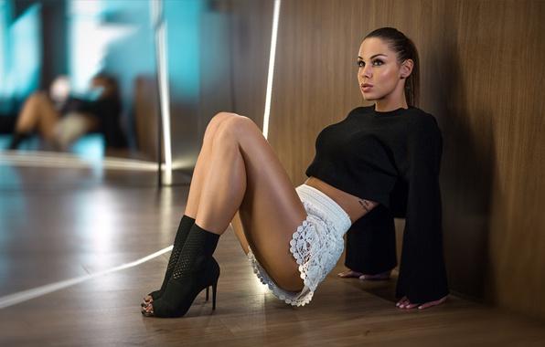 Картинка взгляд, девушка, фотограф, ножки, Peter Paszternak