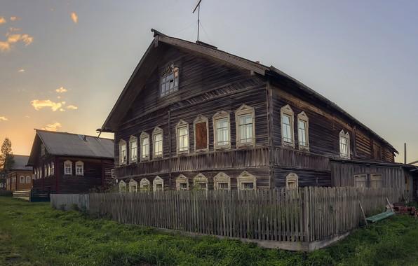 Картинка деревня, Архангельская область, Мезенский район, Кильца