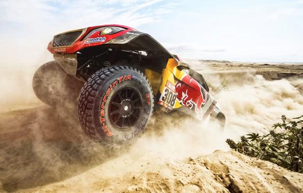 Картинка Песок, Авто, Колеса, Спорт, Машина, Гонка, Peugeot, Red Bull, 308, Rally, Dakar, Дакар, Внедорожник, Ралли, …