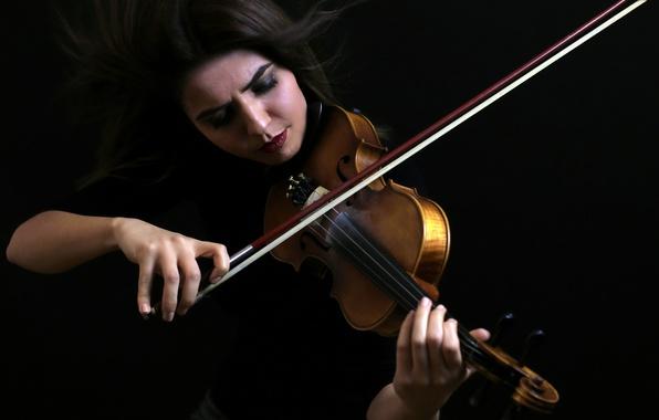 Фото обои музыка, скрипка, девушка