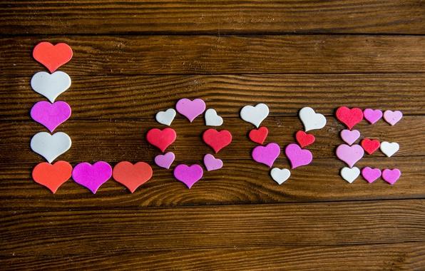Картинка сердечки, love, heart, wood, romantic, sweet, valentine`s day