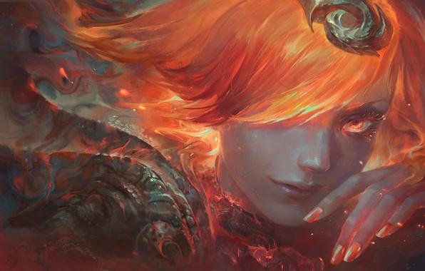 Картинка огонь, Fire, Art, lol, Lux, League of Legends, Lady of Luminosity, Elementalist