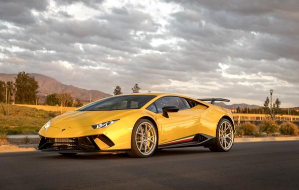 Картинка Lamborghini, Yellow, Performante, Huracan