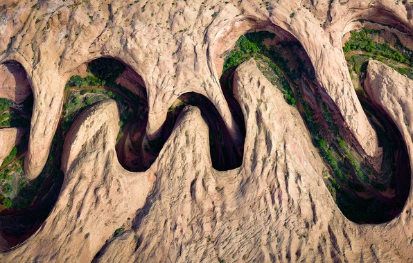 Картинка горы, река, Meandering Canyon