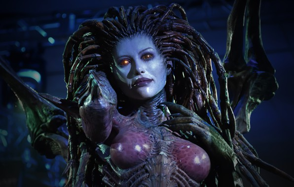 Картинка Sarah Kerrigan, Сара Керриган, Королева Клинков, StarCraft, Queen of Blades