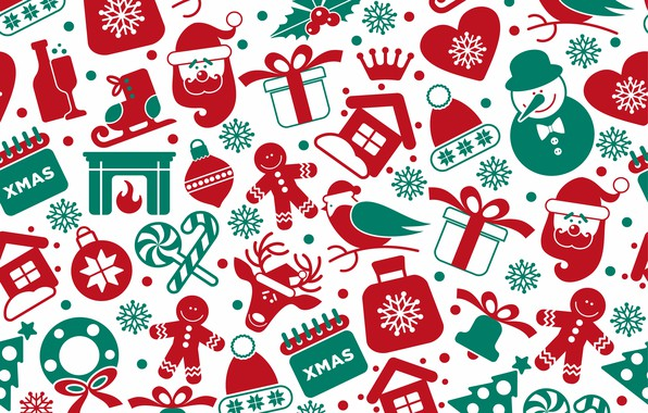 Картинка фон, vector, текстура, christmas, winter, background, pattern, seamless