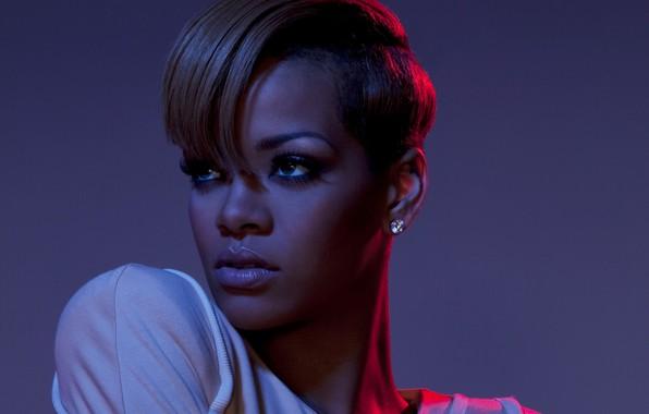 Картинка портрет, певица, Rihanna, знаменитость, короткая стрижка