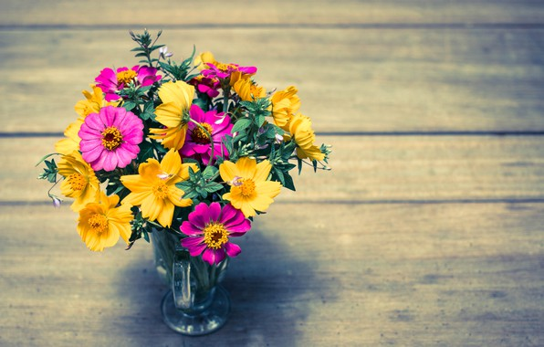 Картинка цветы, яркий, букет, colorful, wood, flowers