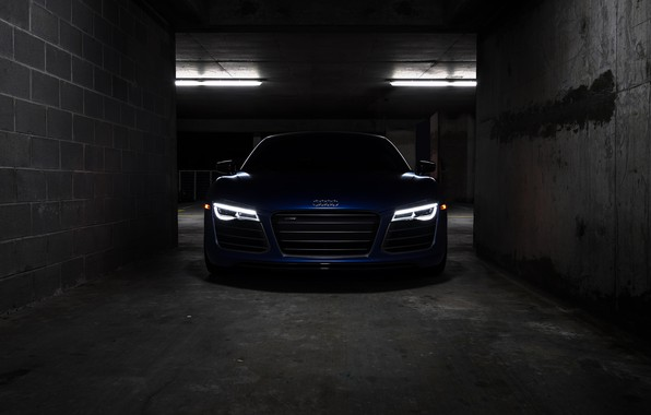 Картинка Audi, Blue, VAG, LED