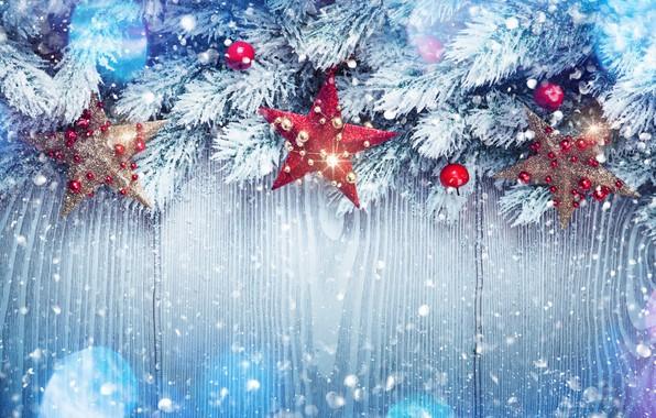 Картинка зима, снег, украшения, елка, Новый Год, Рождество, happy, Christmas, winter, snow, New Year, Merry Christmas, …