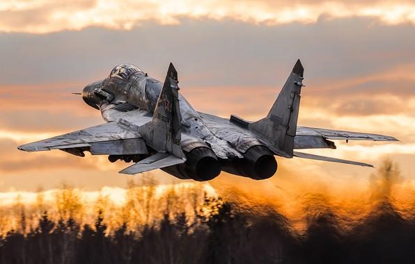 Фото обои 9-17, Fulcrum, модернизированный вариант истребителя МиГ-29СМ, МиГ-29СМТ, советский многоцелевой истребитель, ВВС России, четвёртого поколения, ОКБ ...