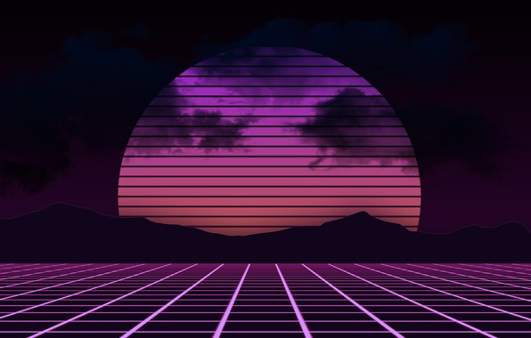 Картинка Солнце, Горы, Музыка, Фон, Electronic, Synthpop, Darkwave, Synth, Retrowave, Синти-поп, Синти, Synthwave, Synth pop