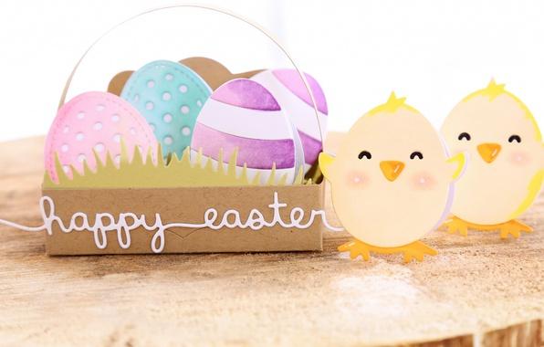 Картинка праздник, цыплята, яйца, весна, пасха, happy, Easter, eggs