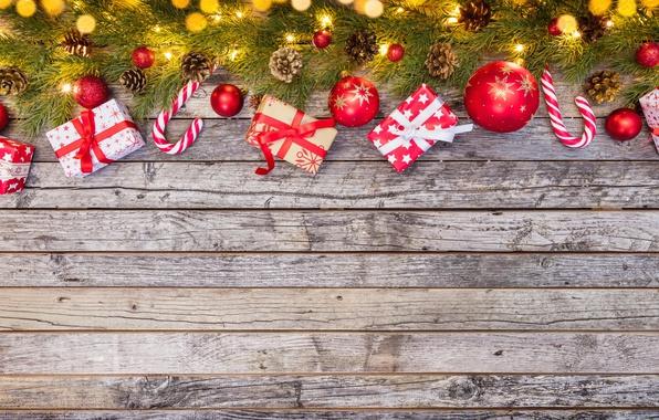 Картинка Новый Год, Рождество, wood, merry christmas, decoration, gifts