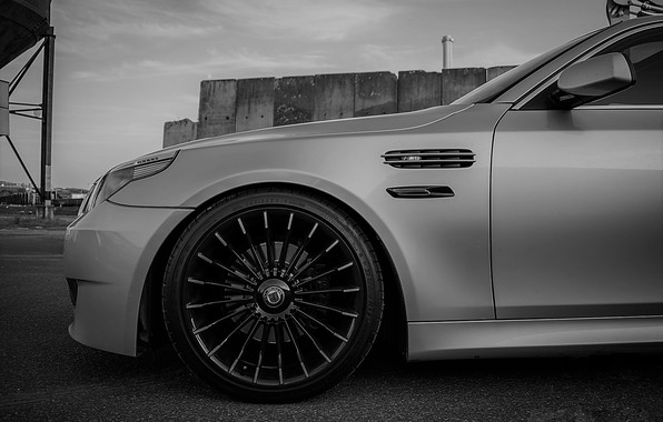 Картинка BMW, Grey, BMW M5, Alpina, BLACK, M5, Alpina B3 Biturbo, powered by M