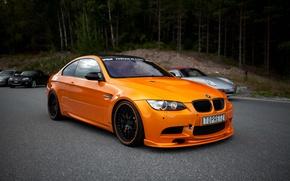 Картинка BMW, БМВ, Оранжевый, Orange, e92, Автомобили, Купе