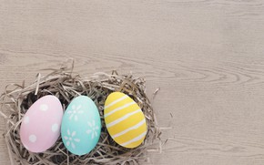 Картинка яйца, Пасха, wood, spring, Easter, eggs, decoration, Happy, tender