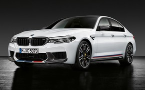 Обои M Performance, BMW M5, 2018, седан