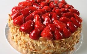 Картинка ягоды, клубника, торт, орехи