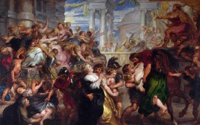 Картинка картина, Питер Пауль Рубенс, мифология, Pieter Paul Rubens, Похищение Сабинянок